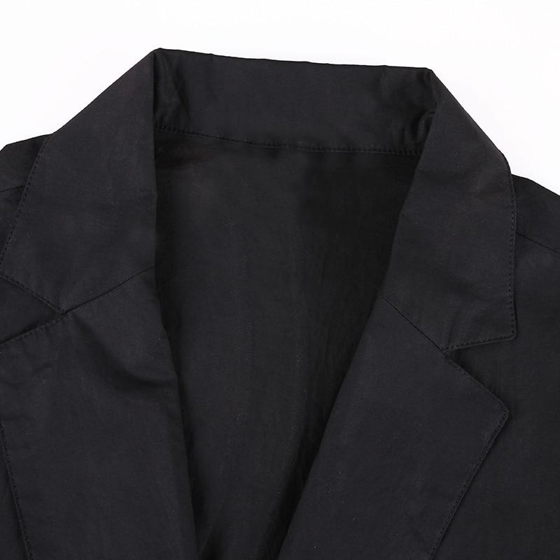 2018 Trois Coton Haute 100 Droite Noir Quarts Qualité Office Longue Automne Manteaux Tranchée Manches Femmes Lady Nouvelle 485wq5