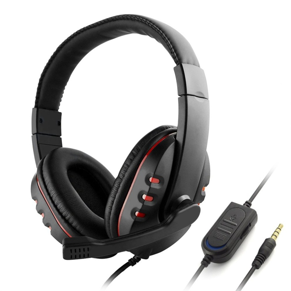 Wired Gaming Headphones 40mm Driver Bass Stereo With Mic 3.5mm Jack Headsets Noise Isolating For PS4 For XBOX-ONE PC Mic