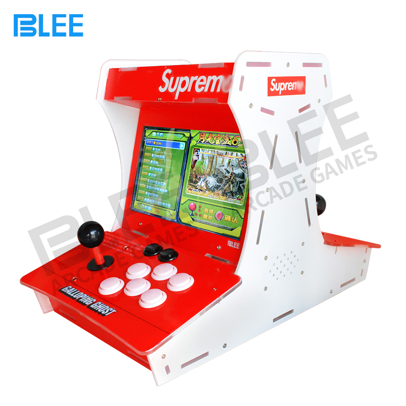 2 player 10 inch LCD Screen Mini bartop Supre Galloping Ghost Arcade Game machine with Box