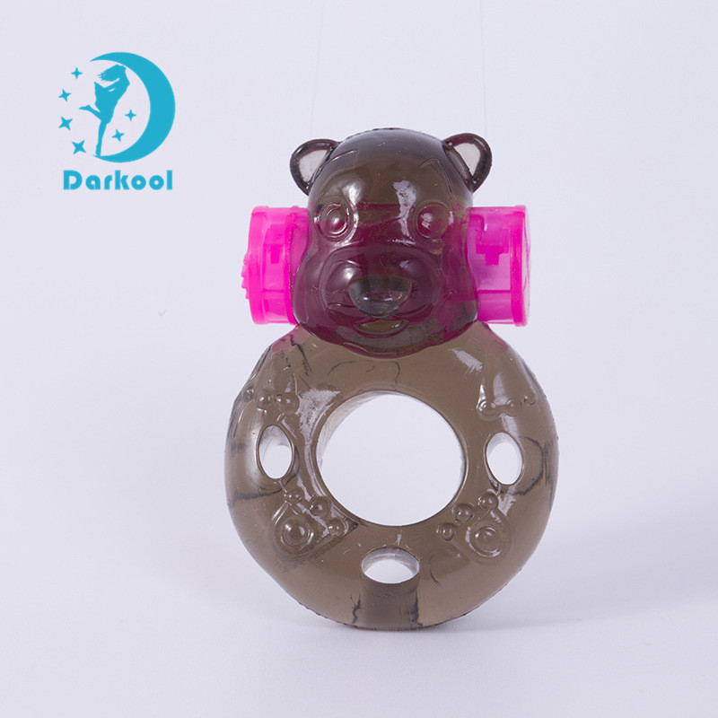 New 2018 Sex Products Delay Spray Soft Animal Shape Bear Vibrating Penis Cock Ring For Men Penis Good Sex Products For Couples