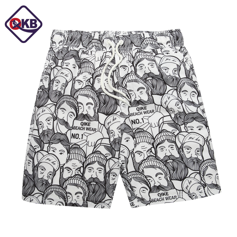 QIKERBONG Heren Beach Shorts Board Trunks Shorts Casual Sneldrogend Heren Zwempakken Bermuda Casual Active shorts