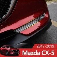 Para Mazda CX-5 CX5 5 CX 2017 2018 2019 ABS Frente Chrome Fog Luz Tampa Da Lâmpada Guarnição Decoração Estilo Do Carro Acessórios 2 Pçs/set