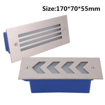 DHL Free Shipping Led Wall Corner Lamp 3*3W Recessed LED Step Stair Light AC85-265V/DC12V Basement Porch Pathway Stairway Bulb dhl free shipping cob par30 led bulb light 30w e27 indoor embedded led spot lights spotlights white gray shell ac85 265v