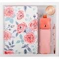 Никогда корейский цветочный персональный ноутбук A5 дневник розовый Карандаш сумка металлическая ручка канцелярский подарочный набор план...