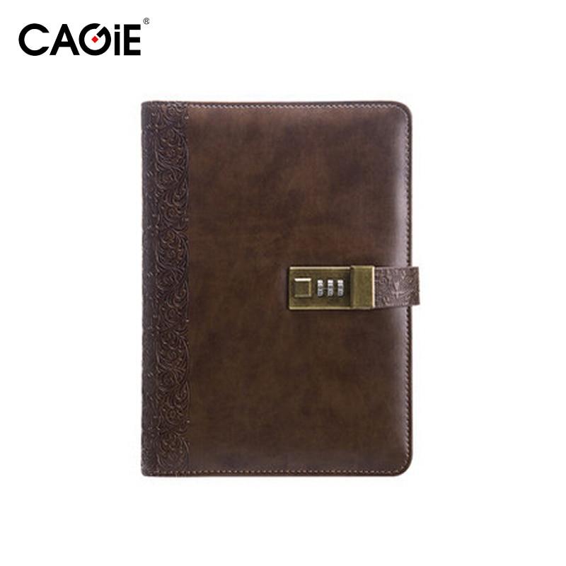 Cagie 2016 Vintage Parola Lock Spira Notepad Note de birou pentru - Blocnotesuri și registre - Fotografie 4