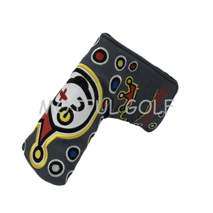 Joker Style Golf Head Covers PU Numbers Club Accessories Golf Putter Cover Headcover For Blade Golf Club Head Covers Accessory