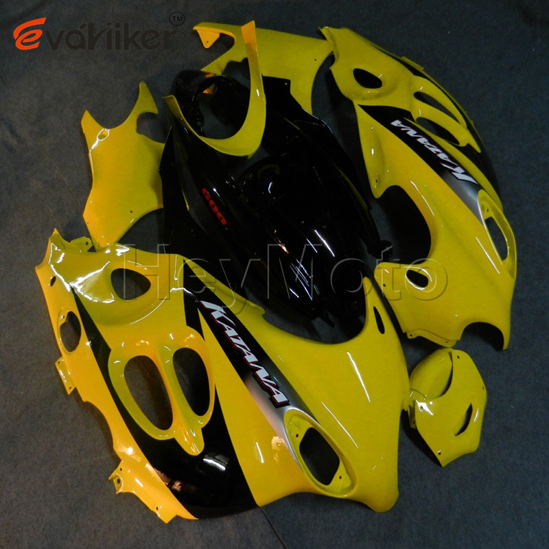 Custom motorcycle <font><b>fairing</b></font> for <font><b>GSX600F</b></font> Katana 2003-2006 <font><b>GSX600F</b></font> 03 04 05 06+5Gifts+yellow ABS Plastic bodywork image