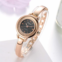 Durable New Arrival Watches Women Crystal Round Wristwatch Women Classic Gold Watches For  Ladies Luxury Female Quartz Watch