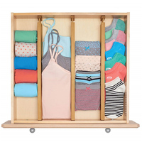 4Pcs Organization Home Drawer Dividers Free Separation Partition Board Retractable Stretch Kitchen Storage Bedroom Bamboo Office