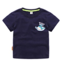 Summer Kids Boys T Shirt whale Print Short Sleeve Baby Girls T-shirts Cotton Children T-shirt O-neck Tee Tops Boy Clothing