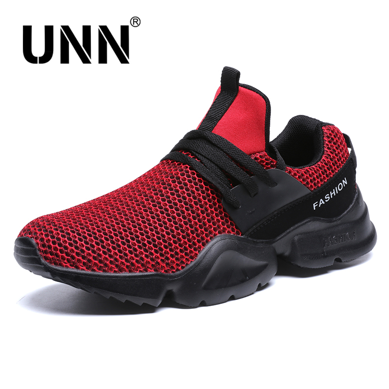 UNN 2018 Breathable Men Casual Male Shoes Adult Red Black White High Quality Comfortable Non-slip Soft Mesh Men Shoes Size 7-10 long mesh sheer slip babydoll page 7