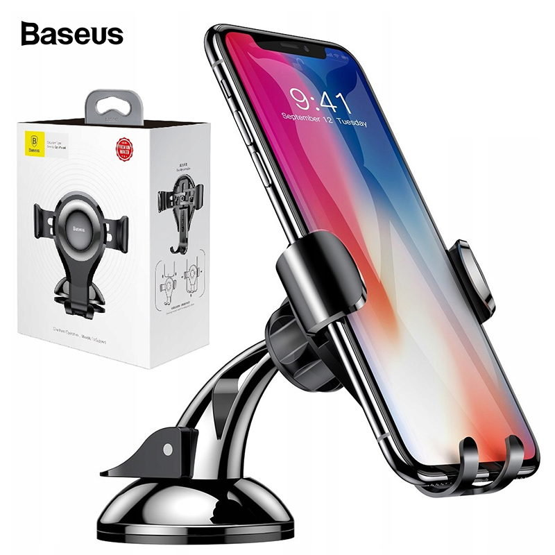 Baseus Universal Car Phone Holder For iPhone X 8 7 Samsung Gravity Reaction Flexible Mobile Phone Holder For Sony Xiaomi