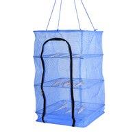 3 Layer Universal Fish Net Drying Rack Folding Hanging Prawn Crab Dryer Hanger Convenient Bag Zipper Clean Fishing Tool