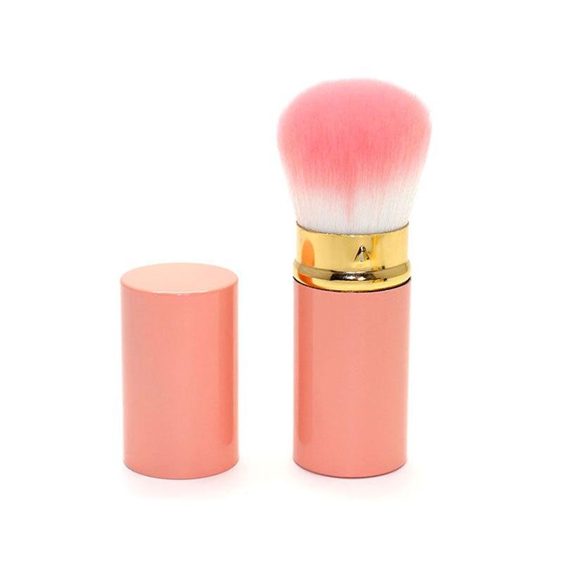 Cosmatic makeup brush foundation BB cream Loose power blusher brush makeup round brush with cap Face Powder Blush Cheek tool