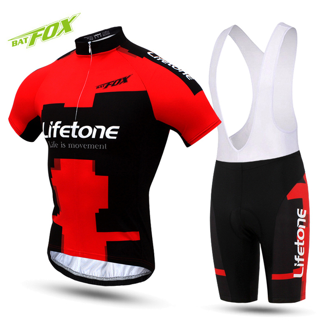 22c15c42a BATFOX Short Cycling Jersey Sets Men 2017 Summer Cycling Clothing Kits Male  Breathable Mountain Bike Mallot