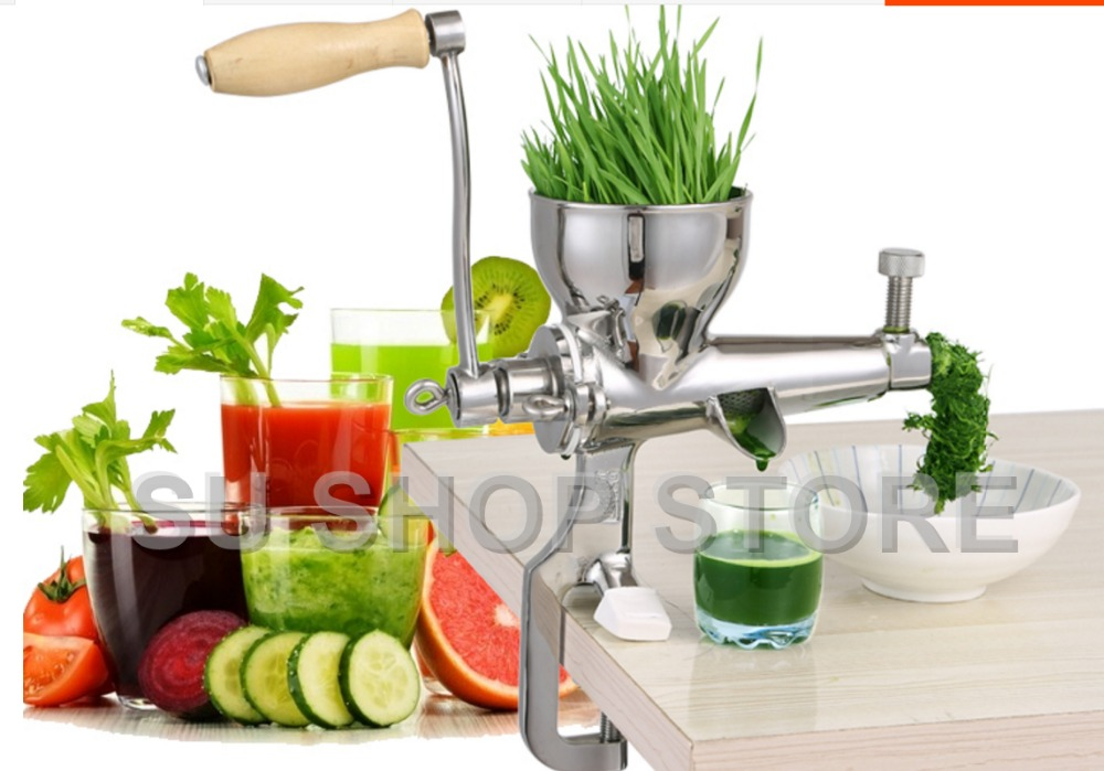 Hand Stainless Steel wheatgrass juicer manual Auger Slow squeezer Fruit Wheat Grass Vegetable orange juice press extractor home use hand wheat grass juicer extractor cucumber tomato potato juice squeezer