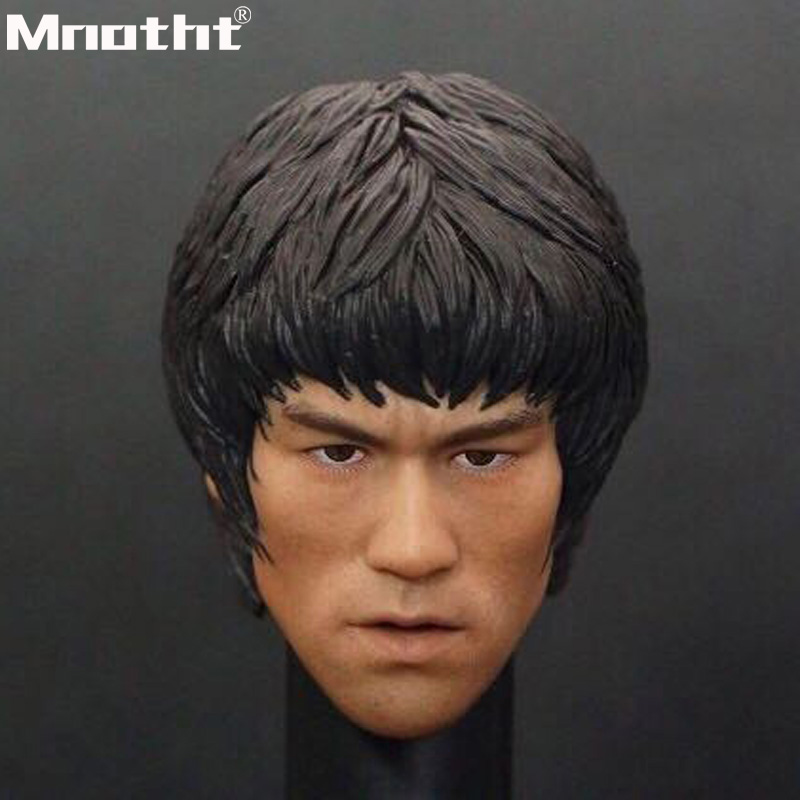 1 6 Scale Head Sculpt Bruce Lee Head Carved Model Play Murder for Me for 12inch
