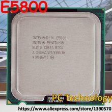 Original processador intel pentium e5800 (2 m cache, 3.20 ghz 800 mhz lga775 desktop cpu frete grátis