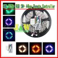 5050 SMD + RGB 5M+ 44Key IR Remote Controller + LED Changable Strip Light + 300 60Led/M Indoor +Free Shipping