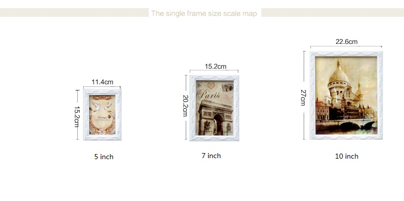 13pcs Pure White Photo Frames Pastoral Style Wedding Picture Frames ...