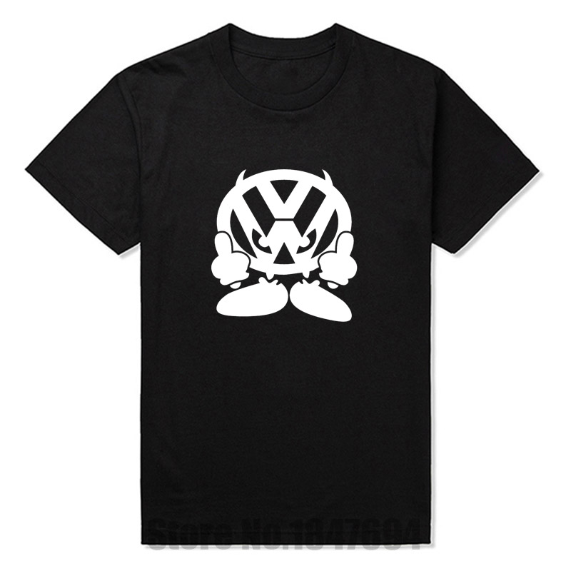 New t shirt men brand vw face volkswagen auto printed t for Vw t shirts men