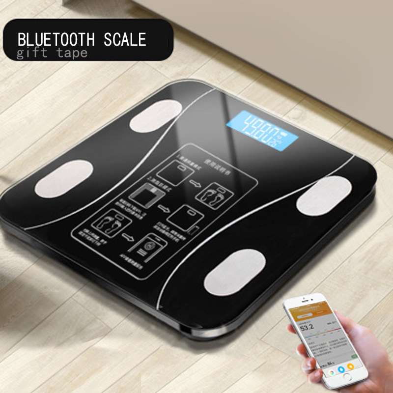 Bmi Scale Smart-Weighing-Scales Floor Human-Weight Body-Fat Digital Bathroom Electronic title=