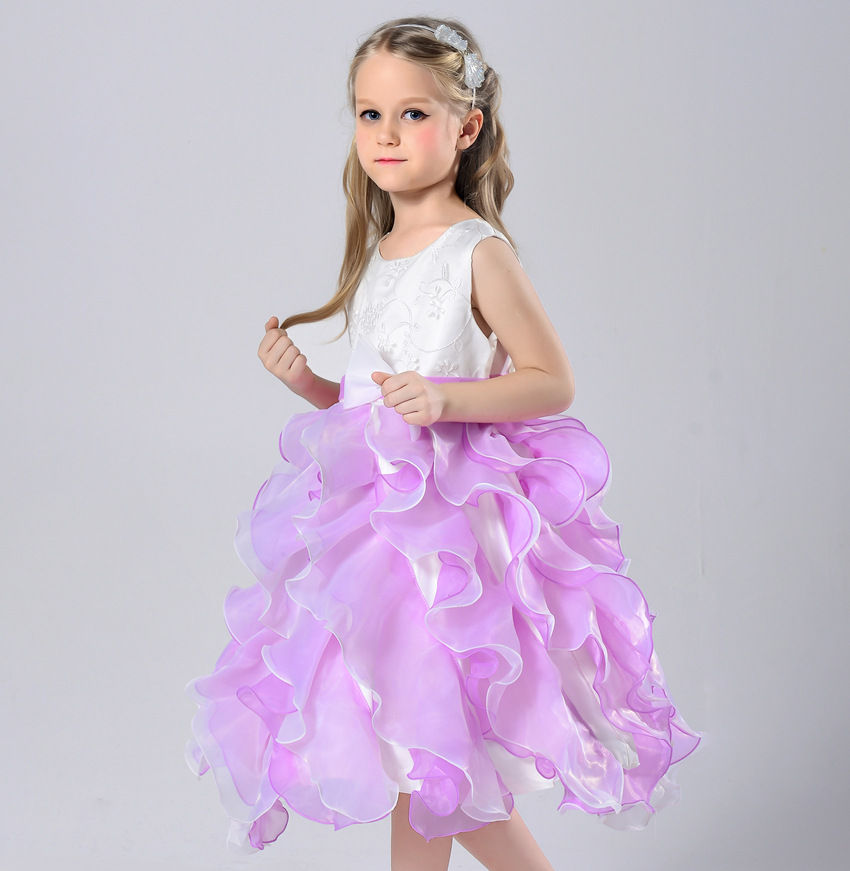 Summer Girls Wedding Dresses Infant Princess Girls Birthday Party tutu Dress Christening kids prom frocks For 1 2 4 6 8 Years pageant 3d rose flower girls red dress kids frocks princess party birthday wedding dresses vestidos clothes for 2 4 6 8 10 years