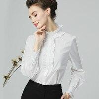 Новая рубашка Топы с длинным рукавом и стоячим воротником гриб Blusas Mujer De Moda 2018 женские Костюмы Женские топы и блузки