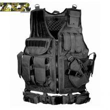 Zuoxiangru פריקה טקטי גברים Combat Vest טקטי צבא צבאי אוהדי הסוואה אפוד גוף Cs ג ונגל ציוד