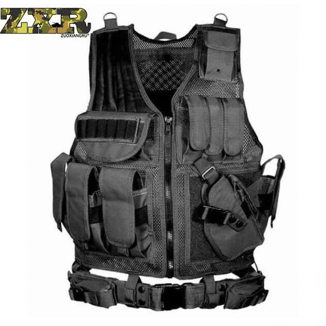 Zuoxiangru Unloading Tactical Men Combat Vest Tactical Army Military Fans Camouflage Vest Body Cs Jungle Equipment