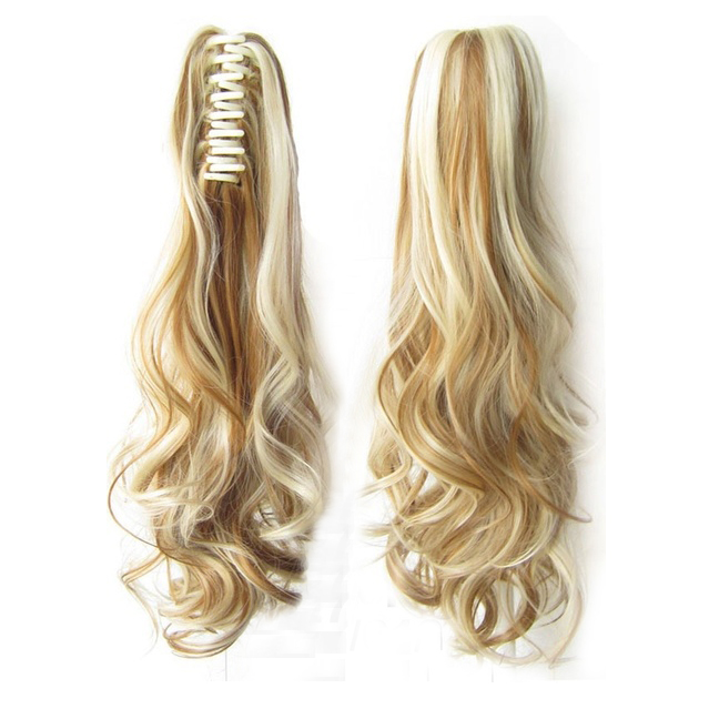 FS Hot Ladies Fashion Mixed Color Easy Ponytail Hair Design Clip Claw Hair Extension Hairpiece Cosplay Wig Hair Piece #F27/613 candino elegance c4415 2 page 3