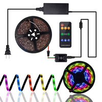 5M 10M Music Led Mood Light Strip RGB Neon Ribbon Waterproof Diode Tape With Remote Controller For Bedroom ,Kitchen, Living Room