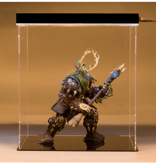 [Funny] Collection 22cm WOW Online Game Night Elf Druid Broll Bearmantle Figure Figurine model Toy Exquisite Collectible Gift  5