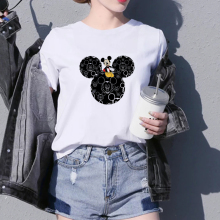 WVIOCE Harajuku Style Cartoon Print T Shirt Women Summer Casual Short Sleeve T-shirt Round Neck Top Tee Femme