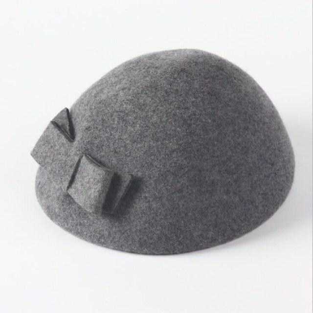 Seioum Wool Beret Winter...