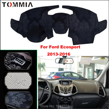 Tommia Car Dashboard Cover Mat Light Avoid Pad Photophobism Anti-slip protection Mat For Ford Ecosport 2013-2016