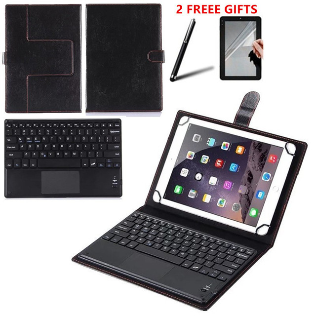 promo code 4fa85 396f5 HISTERS Suitable Keyboard for Lenovo Tab 10 TB-X103F X103F 10.1 inch  Wireless Bluetooth Touchpad Keyboard Leather Case 2 GIFTS