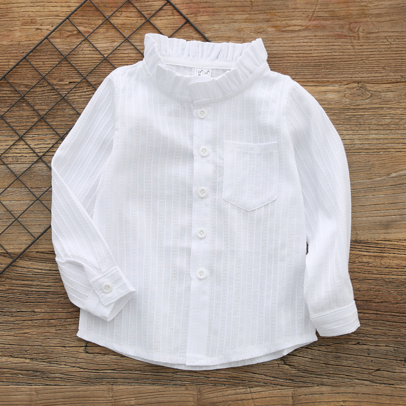 Girls' Clothing Girls Striped Shirt Spring Autumn Long Sleeve Cotton Blouse Tops Children High Low School Shirts For Girls Kids Clothes Ture 100% Guarantee