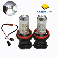 2pcs H11 H8 50W Car LED Fog Light Lamp Cree Chip Canbus No Error Free For