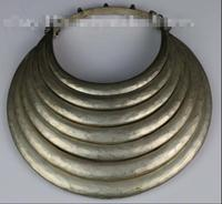 Tribal exotic chinese handmade miao silver necklace