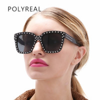 POLYREAL Fashion Vintage Square Sunglasses Brand Designer Oversized Sunglass Steampunk Vogue Retro Men Women S Sun