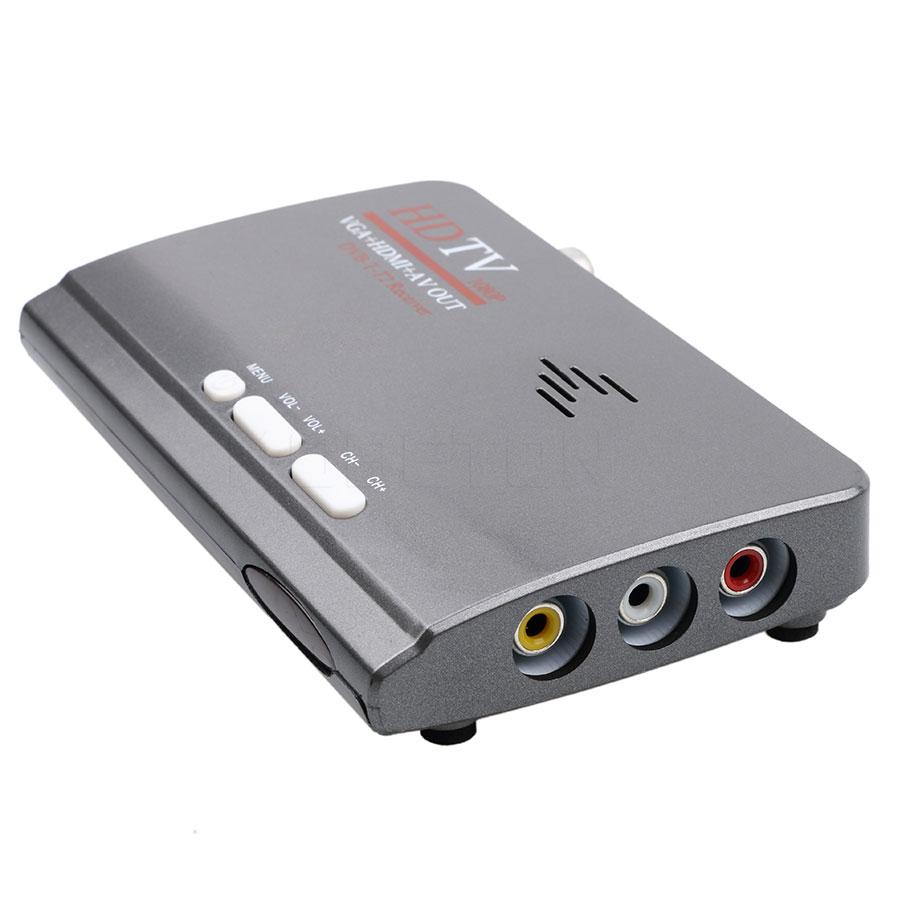DVB-T/DVB-T2 ТВ тюнер приемника DVB T/T2 ТВ коробка VGA AV CVBS 1080P HDMI Цифровой HD спутниковый ресивер с пультом дистанционного Управление