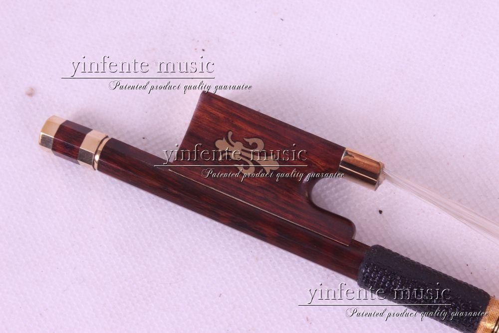 Violin Bow  Pernambuco Performance Snake Wood Round Stick New 4/4 1 pcs #12 1 pcs brazilwood violin bow 4 4 straight best model fr og round stick xd 033