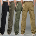 2016 Men Fashion Wearing Hommie Pants 4 Color Choices Pockets And Zipper Washed Fabric Straight Long Capris MG91