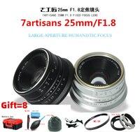 7artisans 25mm/F1.8 Prime Lens to All Single Series for E Mount EOS M Mout/ for Micro4/3 Cameras A6300 NEX 6 XA3 XA10 XT2 EM10II