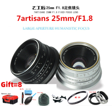 7artisans 25mm/F1.8 Prime Lens to All Single Series for E Mount EOS-M Mout/ Micro4/3 Cameras A6300 NEX-6 XA3 XA10 XT2 EM10II