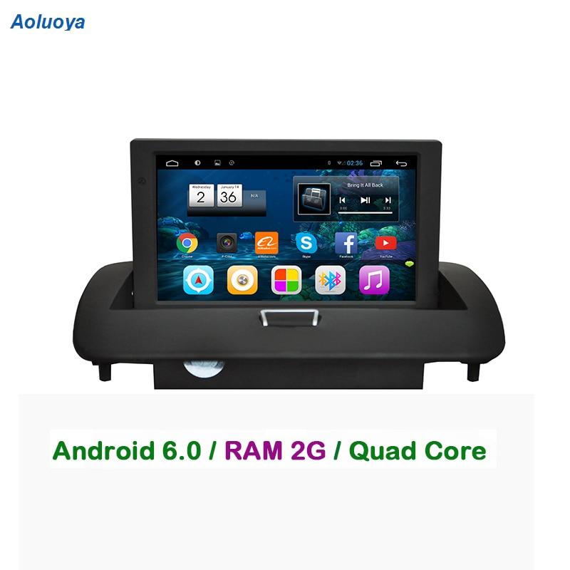Aoluoya 2 GB de RAM Android 6.0 GPS Rádio Do Carro DVD player Para VOLVO C30 C40 C70 S40 S60 V50 2008 2009 2010 2011 2012 ligação Espelho WI-FI