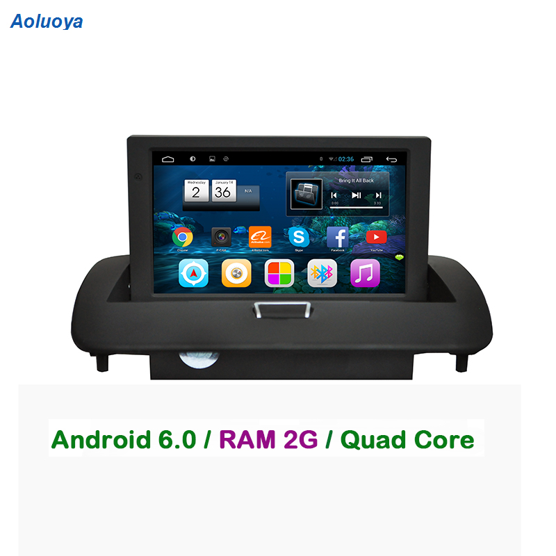 Aoluoya RAM 2 GB Android 6,0 coche Radio DVD GPS player Para VOLVO C30 C40 C70 S40 S60 V50 2008 2009, 2010, 2011, 2012 espejo enlace WIFI