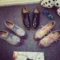 Diseñador de la marca de Las Mujeres Zapatos de Los Planos Zapatos de Las Mujeres de Muy Buen Gusto del Estilo Llano Longwing Brogue Zapatos de Cuero de Las Mujeres de Lujo Reminiscence