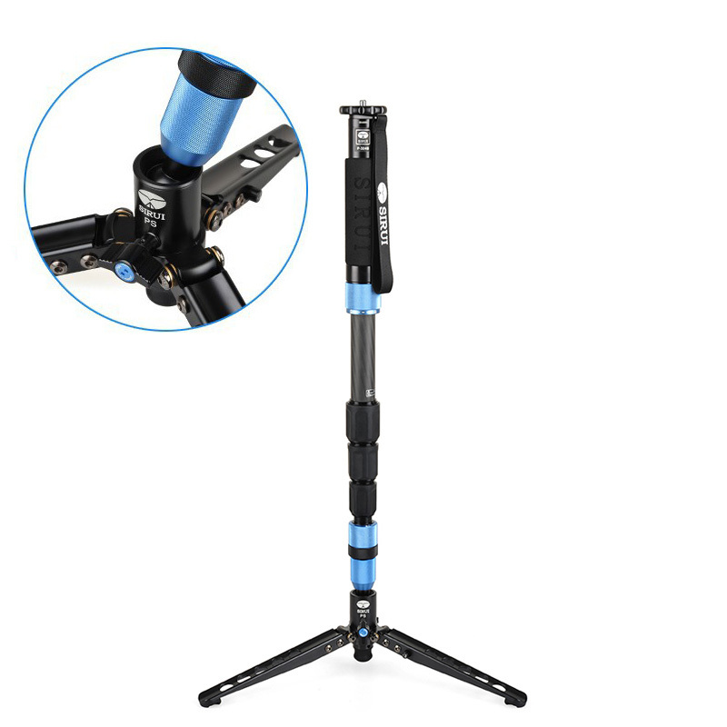 Sirui P-324S P324S Monopod For Camera Carbon Fiber Portable Travel Tripod 4 section Carrying Bag Max Load 10kg DHL Free Shipping